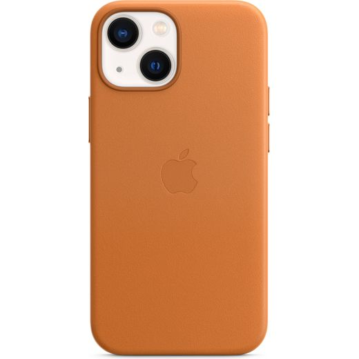 Apple Leather Case with Magsafe for iPhone 13 Mini - Golden Brown
