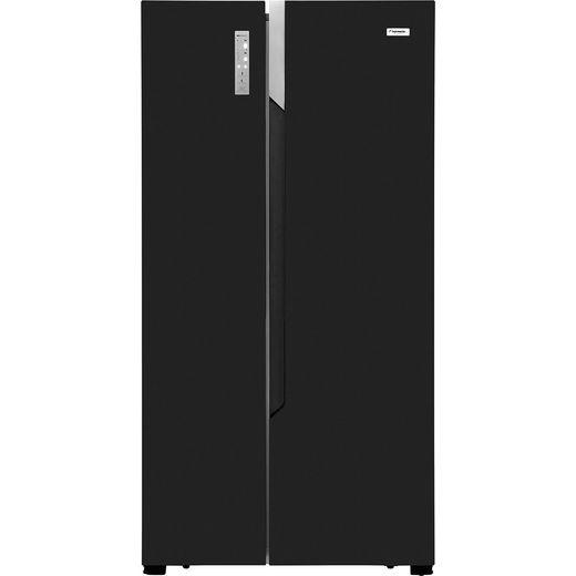 Fridgemaster MS91518FFB American Fridge Freezer - Black