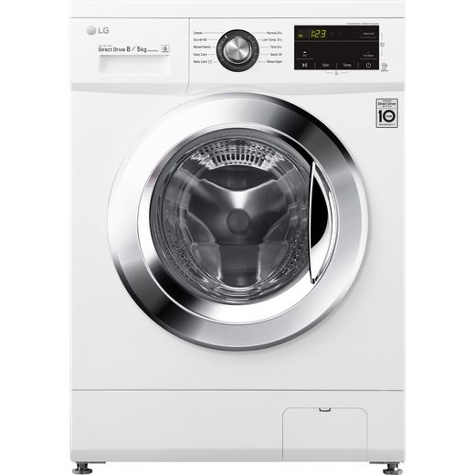 LG FWMT85WE 8Kg / 5Kg Washer Dryer with 1400 rpm - White - E Rated