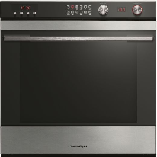 Fisher & Paykel OB60SL11DCPX1 Built In Electric Single Oven - Black - B Rated