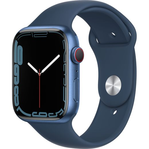Apple Watch Series 7, 45mm, GPS + Cellular [2021] - Blue Aluminium Case with Abyss Blue Sport Band
