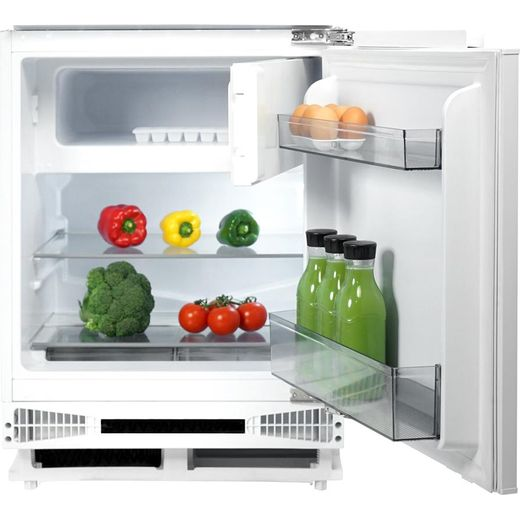 CDA FW254 Integrated Under Counter Fridge with Ice Box - Sliding Door Fixing Kit - White - F Rated