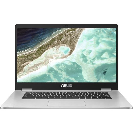 """Asus C523NA 15.6"""" Chromebook Laptop - Silver"""