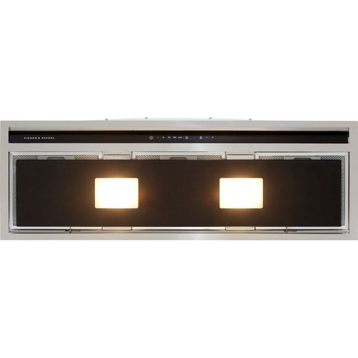 Fisher & Paykel Designer HP90IHCB3 90 cm Integrated Cooker Hood - Black / Stainless Steel - A Rated