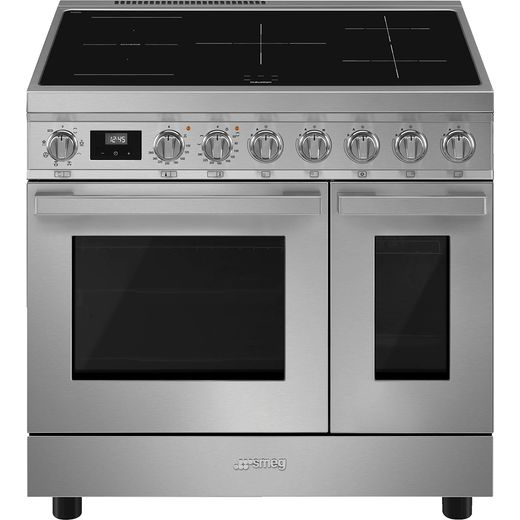 Smeg Portofino CPF92IMX Electric Range Cooker with Zone induction Hob - Stainless Steel - A Rated