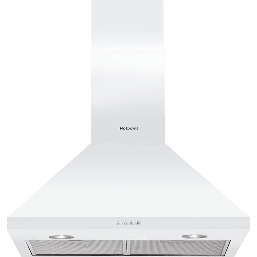 Hotpoint PHPC6.5FLMX 60 cm Chimney Cooker Hood - White - D Rated