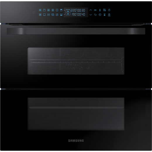 Samsung Prezio Dual Cook Flex NV75R7676RB Built In Electric Single Oven - Black Glass - A+ Rated