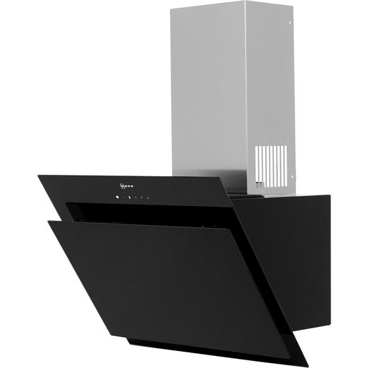 NEFF N50 D65IHM1S0B 59 cm Angled Chimney Cooker Hood - Black - B Rated