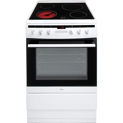 Amica 608CE2TAW Electric Cooker - White - Needs 9.4KW Electrical Connection