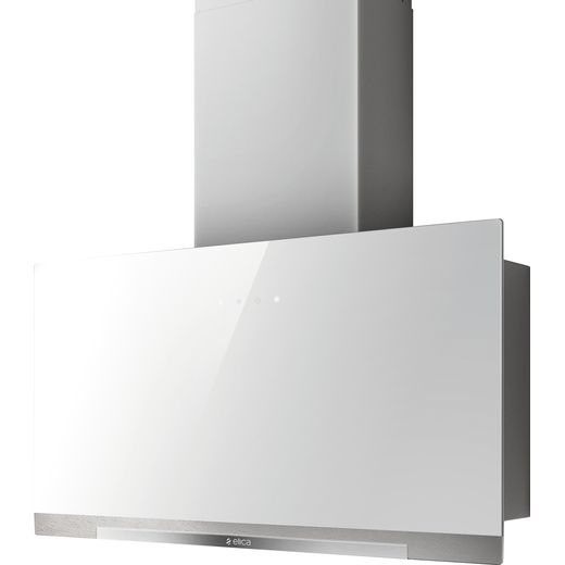 Elica APLOMB-WH-60 60 cm Chimney Cooker Hood - White Glass - A Rated
