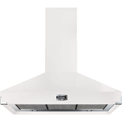 Falcon FHDSE1092WH/N 110 cm Chimney Cooker Hood - White - A Rated