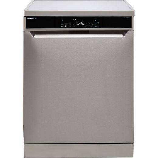 Sharp QW-NA31F45EIO-EN Standard Dishwasher - Stainless Steel - E Rated