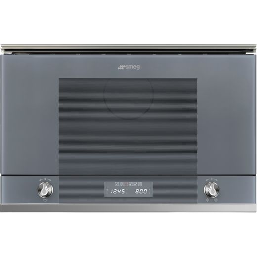 Smeg Linea MP122S1 Built In Microwave With Grill - Silver