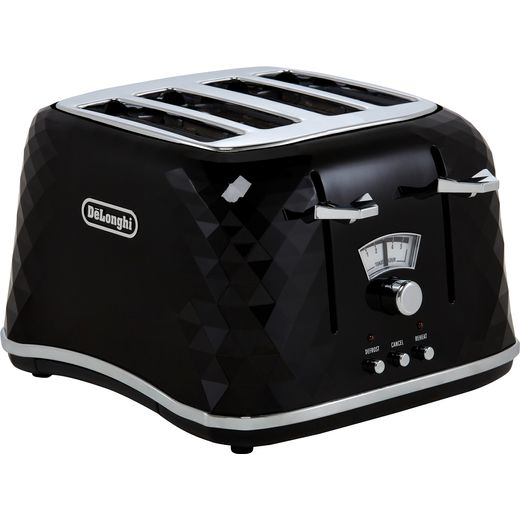 De'Longhi Brillante CTJ4003.BK 4 Slice Toaster - Black