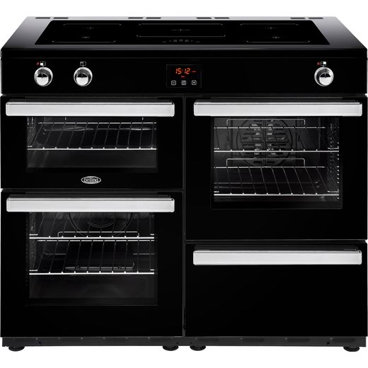 Belling Cookcentre110Ei 110cm Electric Range Cooker with Induction Hob - Black - A/A Rated