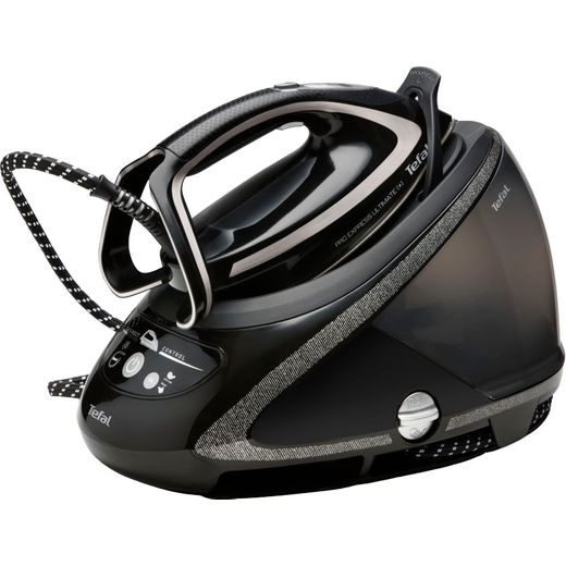 Tefal Pro Express Ultimate + GV9610 Pressurised Steam Generator Iron - Black