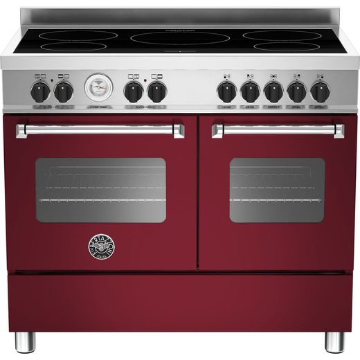 Bertazzoni Master Series MAS100-5I-MFE-D-VIE 100cm Electric Range Cooker with Induction Hob - Burgundy - A/A Rated