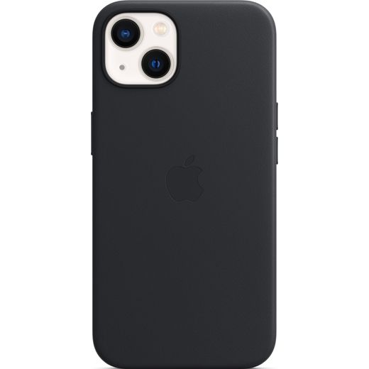 Apple Leather Case with Magsafe for iPhone 13 - Midnight