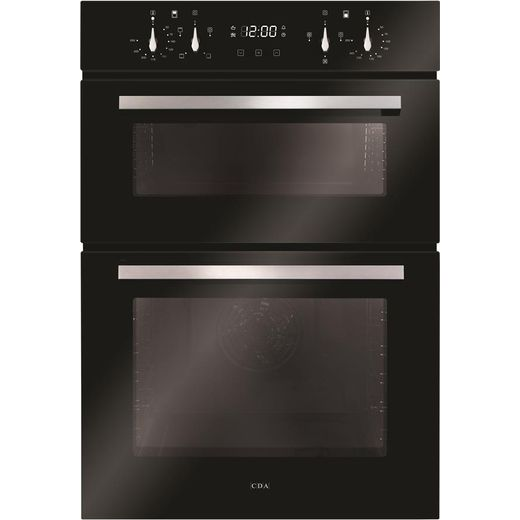 CDA DC941BL Built In Electric Double Oven - Black - A/A Rated