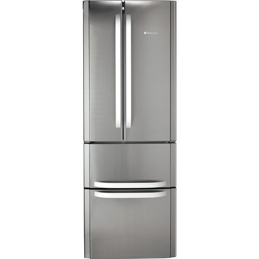 Hotpoint FFU4DX1 60/40 Frost Free Fridge Freezer - Stainless Steel Effect - F Rated