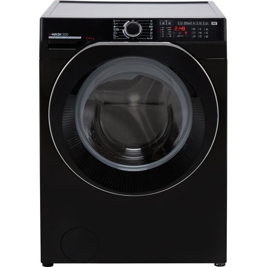 Hoover H-WASH 500 HD496AMBCB/1 Wifi Connected 9Kg / 6Kg Washer Dryer with 1400 rpm - Black - D Rated