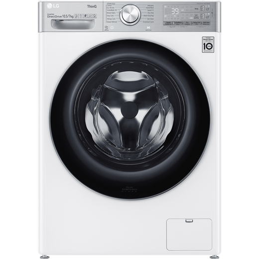 LG V11 FWV1117WTSA Wifi Connected 10.5Kg / 7Kg Washer Dryer with 1400 rpm - White - A Rated