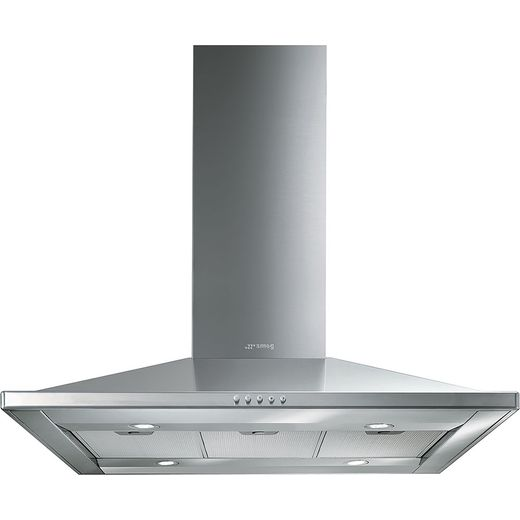 Smeg KI90CE 90 cm Island Cooker Hood - Stainless Steel - B Rated