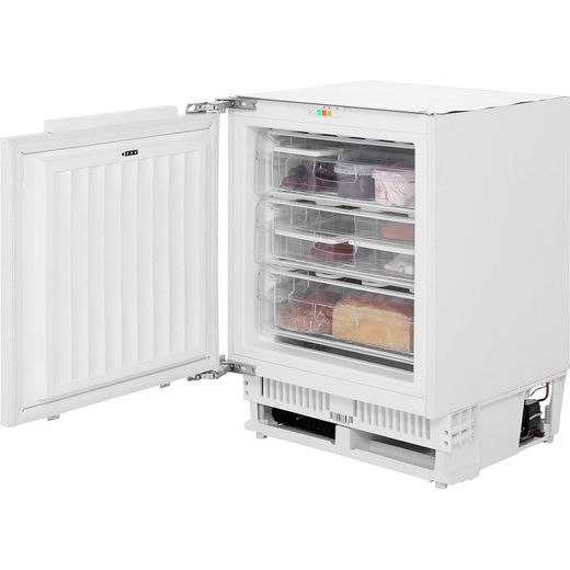 Amica UZ130.3 Integrated Under Counter Freezer with Fixed Door Fixing Kit - F Rated