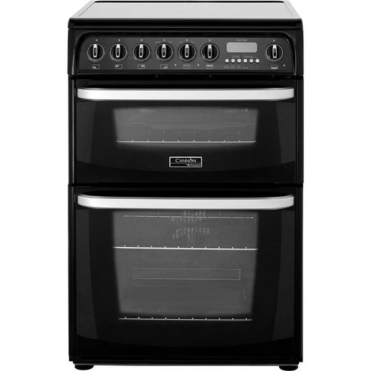 Cannon by Hotpoint Kendal CH60EKKS Electric Cooker with Ceramic Hob - Black - B/B Rated