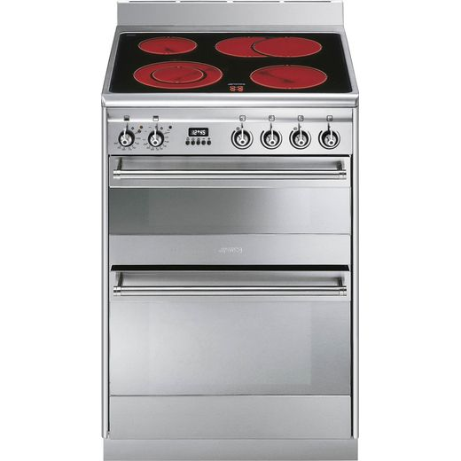 Smeg Concert SUK62CMX8 Electric Cooker - Stainless Steel - Needs 12.8KW Electrical Connection