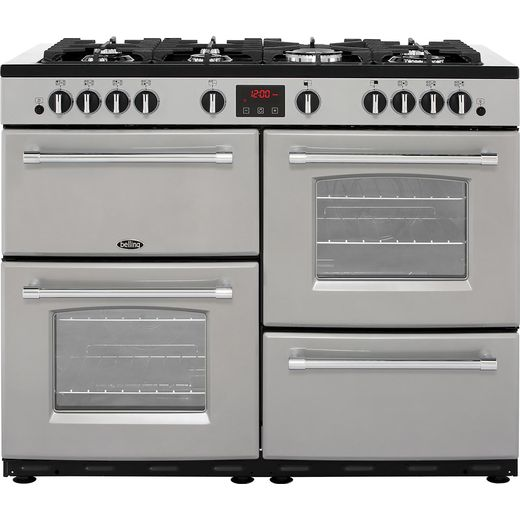 Belling Farmhouse110GT 110cm Gas Range Cooker - Silver - A/A Rated