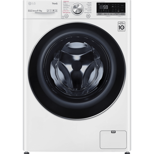 LG V7 FWV796WTSE Wifi Connected 9Kg / 6Kg Washer Dryer with 1400 rpm - White - E Rated