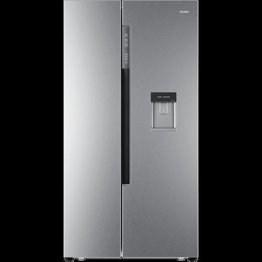 Haier HRF-522WS6 American Fridge Freezer - Silver - F Rated