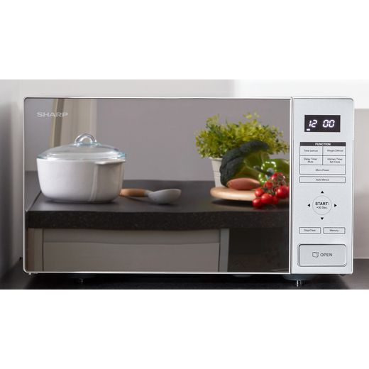 Sharp RBS232TM 23 Litre Microwave - Mirror Glass / Grey