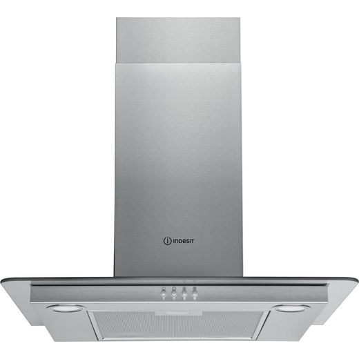 Indesit IHF6.5LMX 60 cm Chimney Cooker Hood - Stainless Steel - D Rated