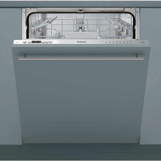 Hotpoint HIO3C26W Fully Integrated Standard Dishwasher - Silver Control Panel with Fixed Door Fixing Kit - A++ Rated
