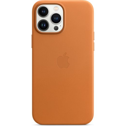Apple Leather Case for iPhone 13 Pro Max - Golden Brown