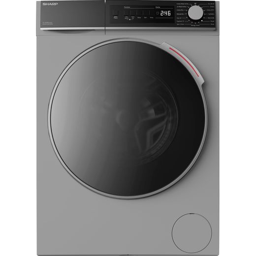 Sharp ES-NDB8144SD-EN 8Kg / 6Kg Washer Dryer with 1400 rpm - Silver - E Rated