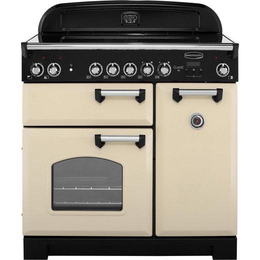 Rangemaster Classic CLA90ECCR/C 90cm Electric Range Cooker with Ceramic Hob - Cream / Chrome - A/A Rated