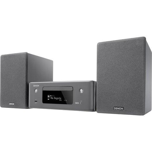 Denon N-10GYE2GB 130 Watt Hi-Fi System with Bluetooth - Grey