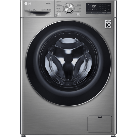LG V7 F4V712STSE Wifi Connected 12Kg Washing Machine with 1400 rpm - Graphite - B Rated