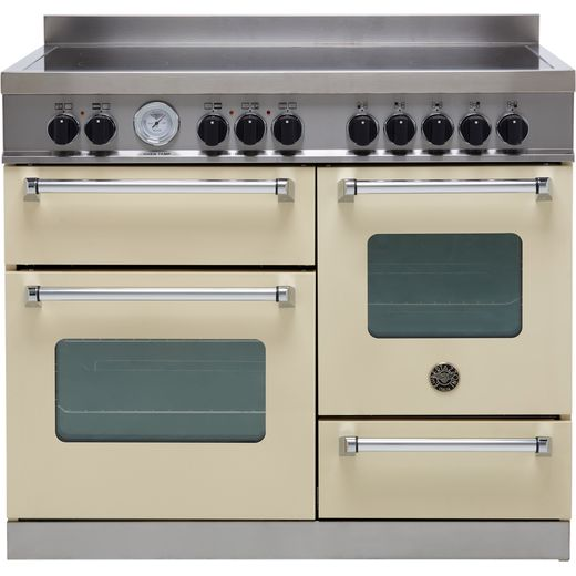 Bertazzoni Master Series MAS100-5I-MFE-T-CRE 100cm Electric Range Cooker with Induction Hob - Cream - A/A Rated