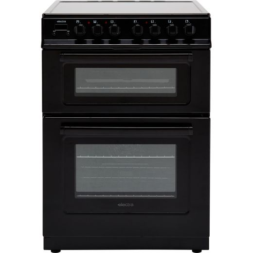 Electra TCR60B 60cm Electric Cooker with Ceramic Hob - Black - A Rated