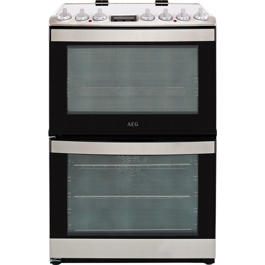 AEG CCB6740ACM 60cm Electric Cooker with Ceramic Hob - Stainless Steel - A/A Rated