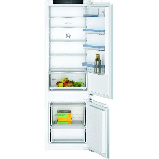 Bosch Serie 4 KIV87VFE0G Integrated 70/30 Fridge Freezer with Fixed Door Fixing Kit - White - E Rated