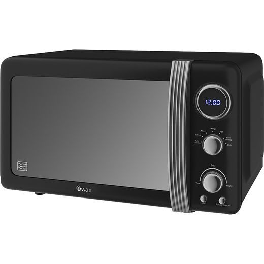 Swan Retro SM22030BN 20 Litre Microwave - Black