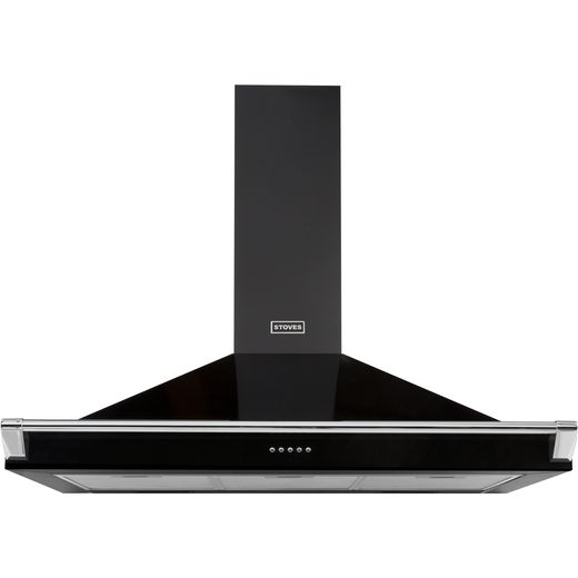 Stoves S1100 RICH CHIM RAIL 110 cm Chimney Cooker Hood - Black - A Rated