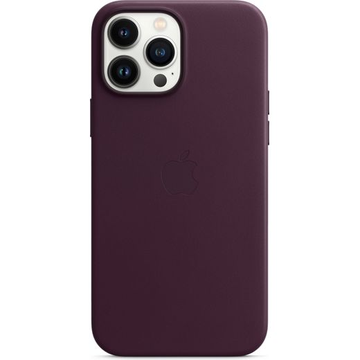 Apple Leather Case for iPhone 13 Pro Max - Dark Cherry