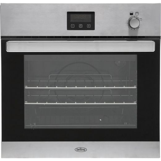 Belling BI602G Built In Gas Single Oven with Full Width Electric Grill - Stainless Steel - A Rated