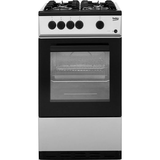 Beko KSG580S 50cm Gas Cooker - Silver - A Rated